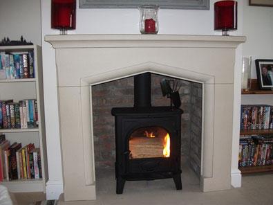 fireplace chamber lining panels brick