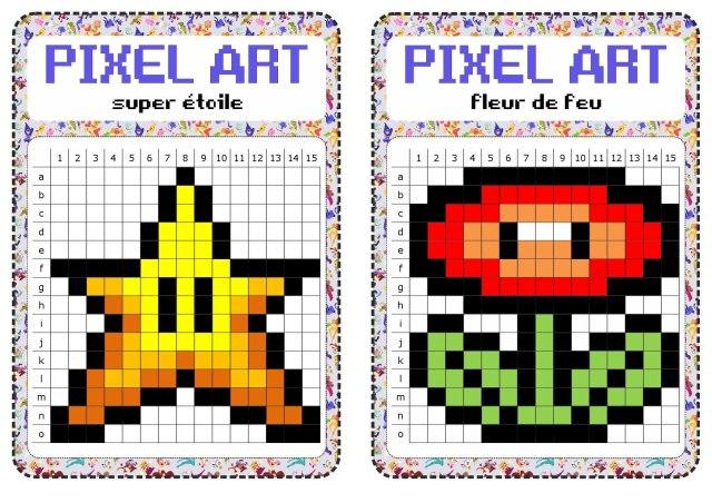 atelier libre : pixel art - Fiches de préparations (cycle30-cycle 30