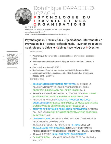 Cv Interventions Competences Experiences Travaux Universitaires Psychologue Merignac Baradello Lozac H