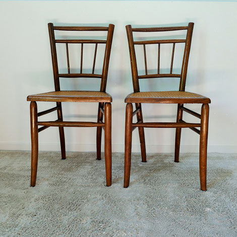 chaise cannee vintage thonet muros