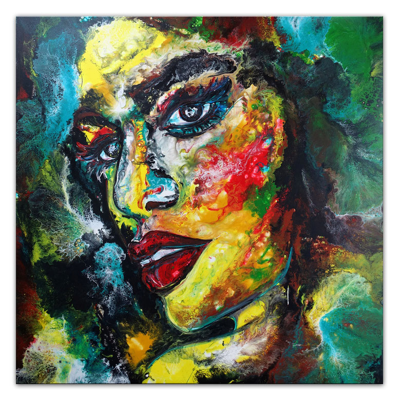 Mystery Artist Impressionist Modernist Abstract Clown Face