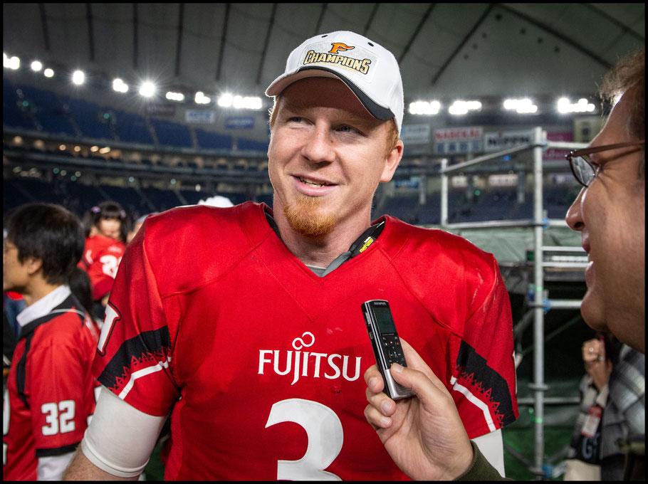 Fujitsu QB Michael Birdsong — John Gunning, Inside Sport: Japan, Dec 17, 2018