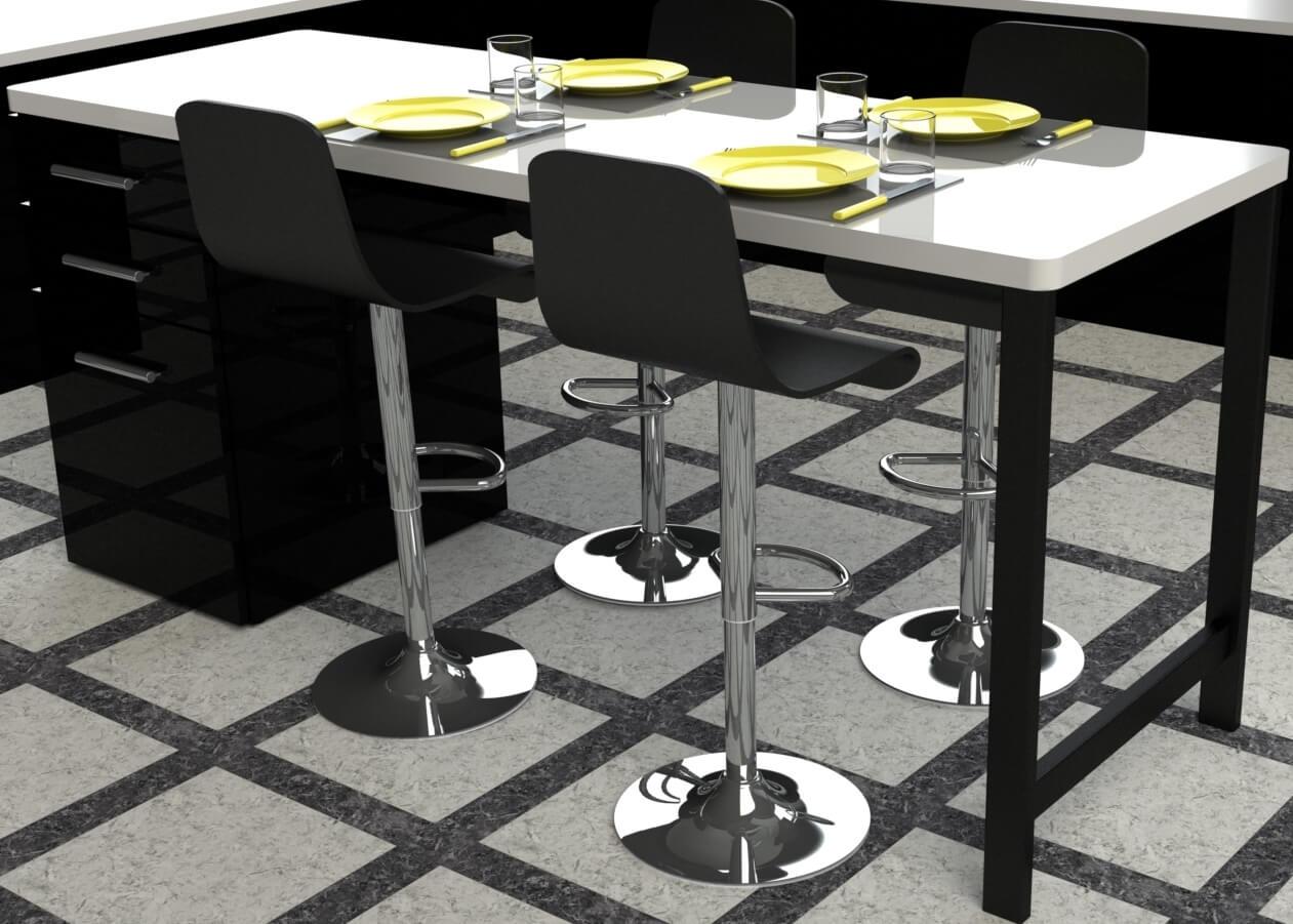 pied pour table de cuisine en metal