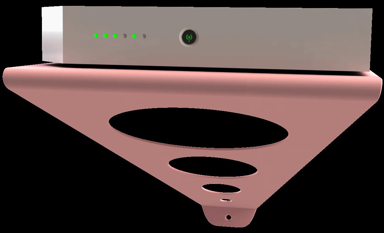 support mural design colore pour box et telephone fixe