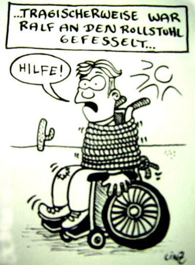 Neue Behinderten Comics Von Phil Hubbe