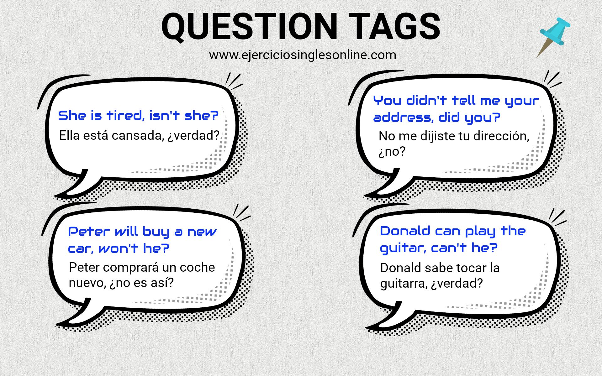 Question Tags En Ingles