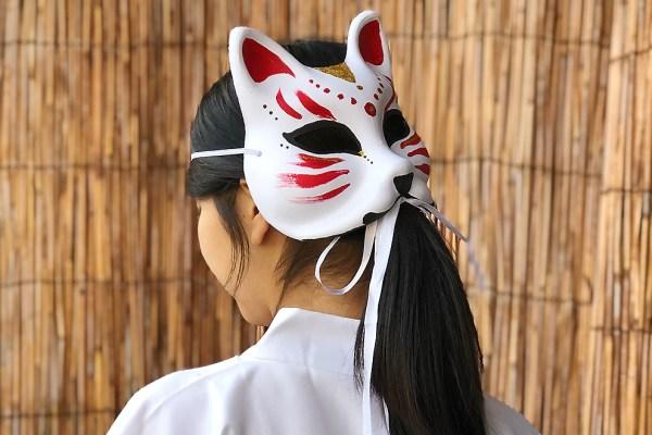 Painting Fox Mask Kitsune | Handcraft | Shin-Osaka - MAIKO CRAFT