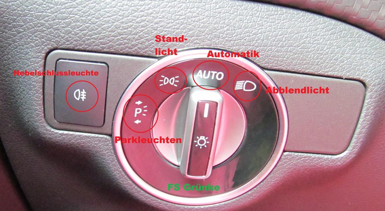 Beleuchtung Mercedes Fahrschule Gruenkes Webseite