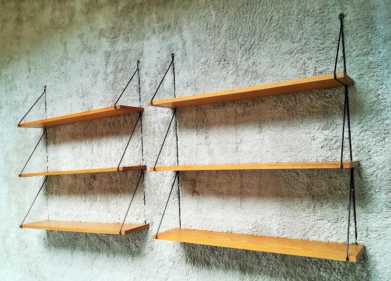 etagere murale bois metal vintage
