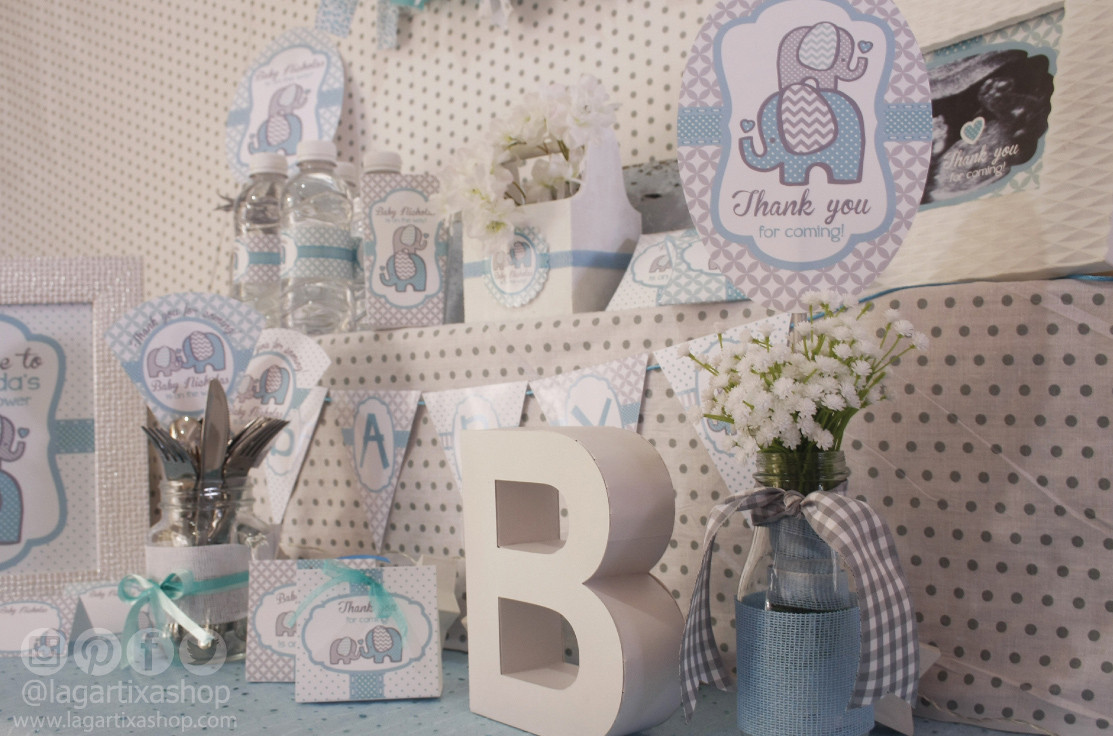 Shower Invitations Yellow And Gray Baby Elephant