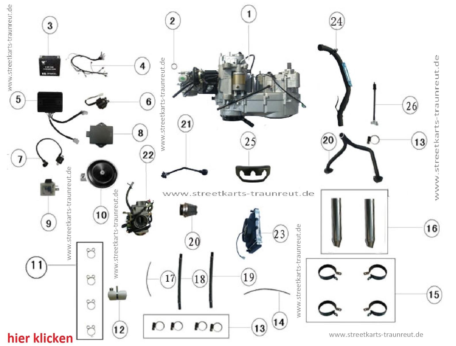 Motor Amp Anbauteile