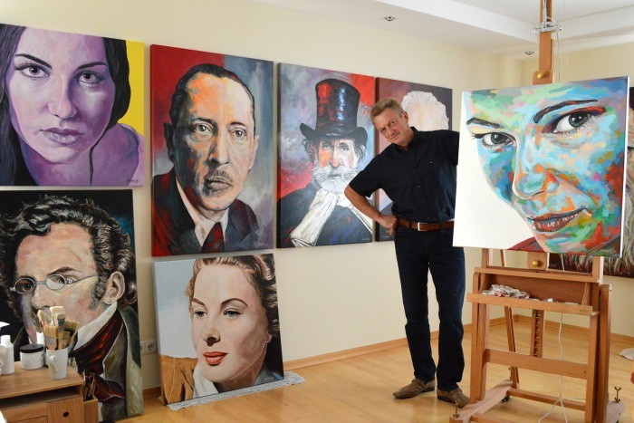 Zeitgenossische Malerei Farbgewaltige Expressive Acrylbilder