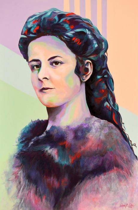 Rote Haarmadchen Portratmalerei Digitale Kunst Druck Auf