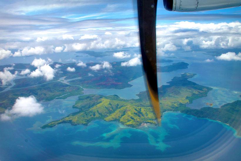 View from the plane Cebu Pacific Air on the way to Siargao, Philippines © Sabrina Iovino | via @Just1WayTicket