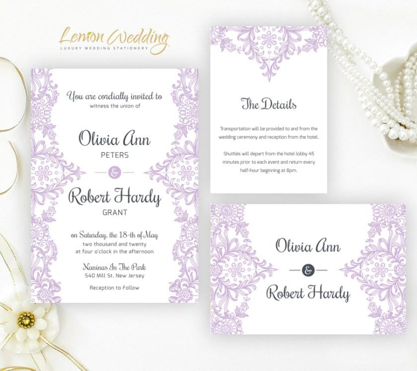 Purple Wedding Invitations 46 3