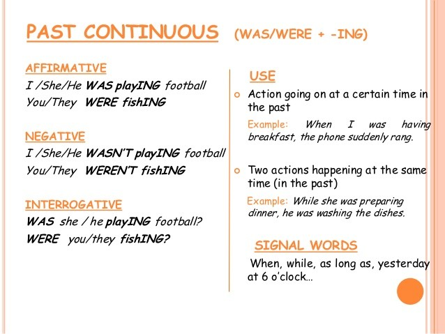 Past Past Tense And Continuous Tense Simple