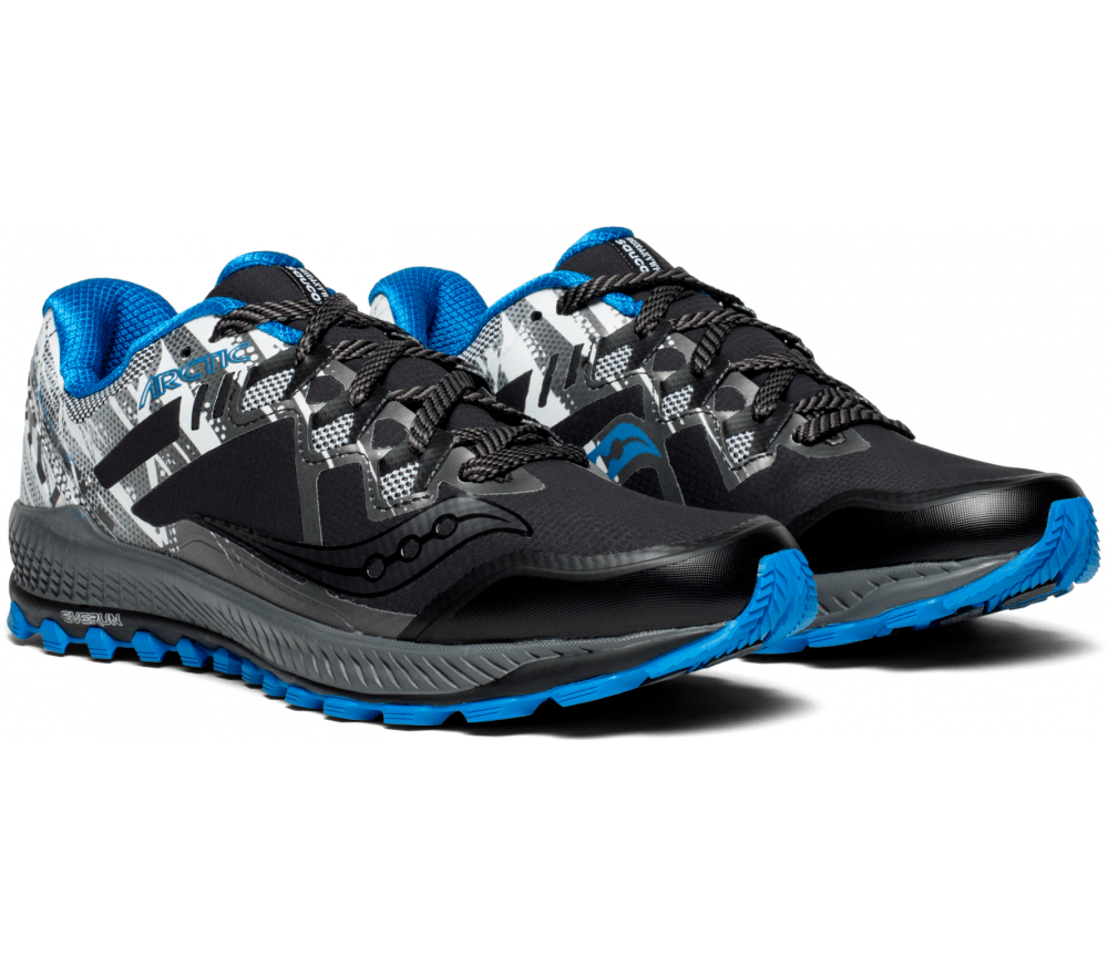 Saucony Peregrine 8 Ice Mens Running Shoes Black