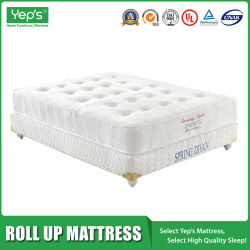 Uk Standard On Style Roll Up Pocket Spring With Memory Foam Mattress