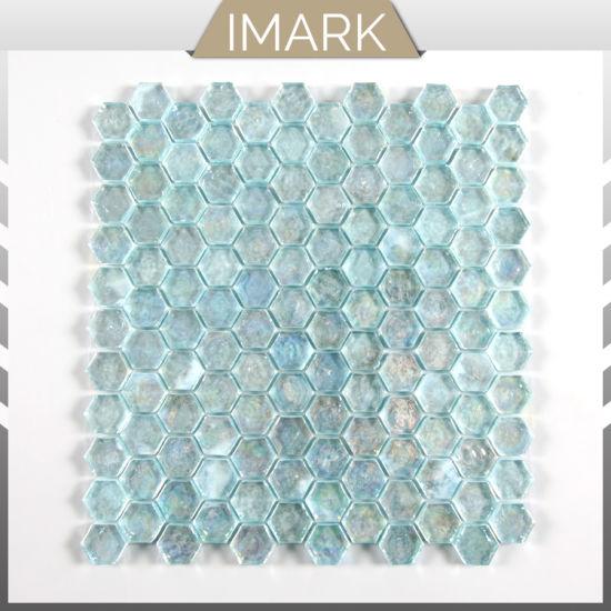 china glass mosaic tile hexagon tile
