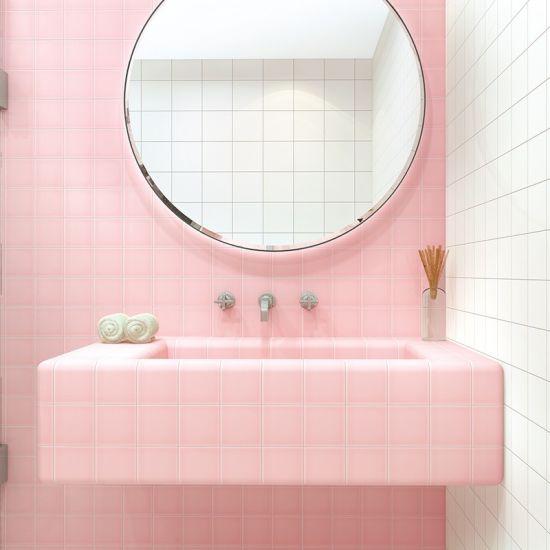 4x4 inch 10x10cm pink ceramic tile for
