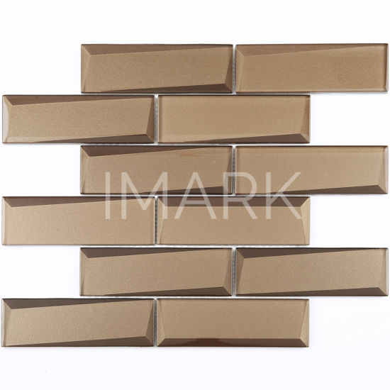 china brown color mirror glass mosaic