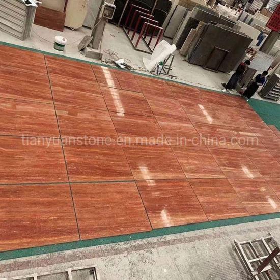 good quality china red travertine tiles