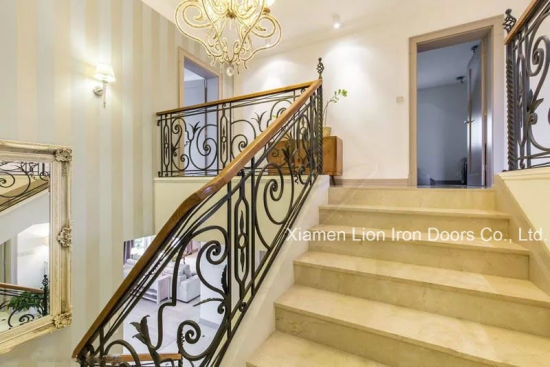 China Exterior Handrail Lowes Wrought Iron Railing Stair Railing | Lowes Exterior Stair Railing | Composite Decking | Matte Black Aluminum Railing | Railing Systems | Metal | Porch