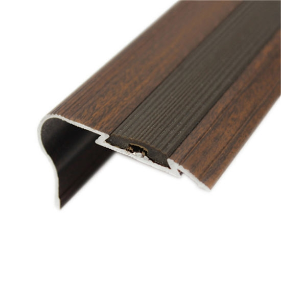 China Quality Assurance Edge Tread Aluminum Non Slip Carpet Stair   Non Slip Carpet For Stairs   Trim   Laminate   Wood End Cap   Step   Rubberized