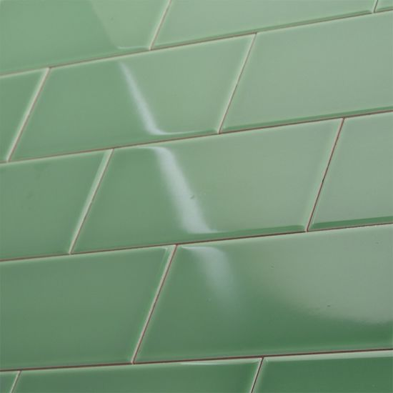 green 75x150mm subway tile standard square ceramic wall tile sizes