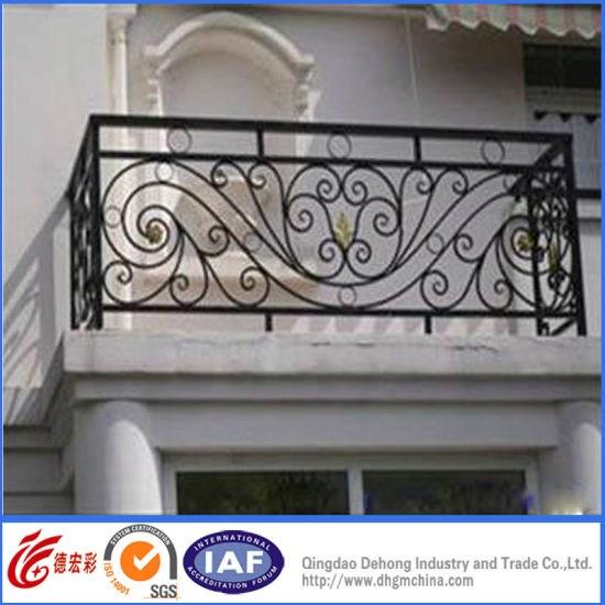 China Modern Exterior Metal Aluminium Galvanized Steel | Exterior Wrought Iron Railing Cost | Ironwork | Fence | Stainless Steel | Balcony Railing | Handrails