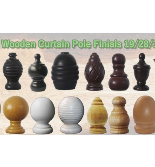 china wooden curtain rod finials wooden