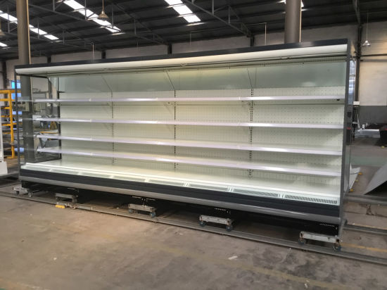 big size supermarket air curtain open refrigerator for cold drink