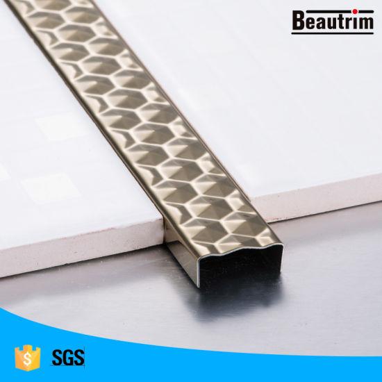 listello profile decorative stainless steel u shaped tile edge trim
