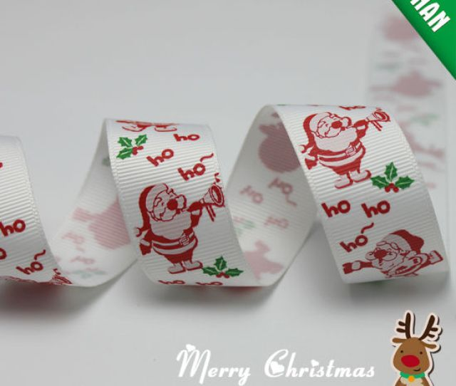 Customized Hot Sale Decorative Christmas Grosgrain Satin Ribbon
