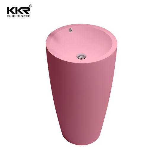 round pedestal sink acrylic solid