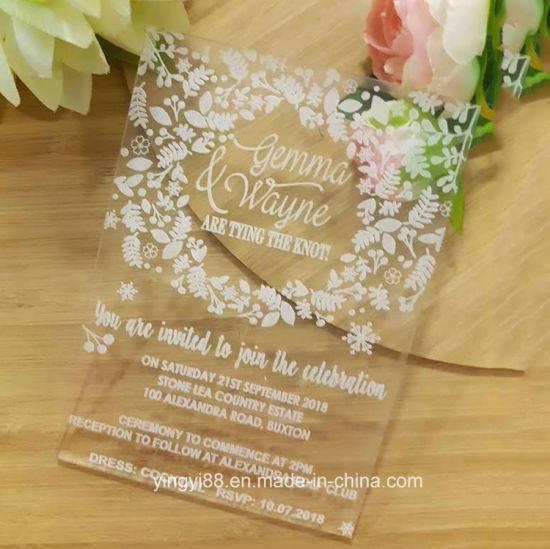 Custom Beautiful Acrylic Invitations Will Make Your Wedding Unique