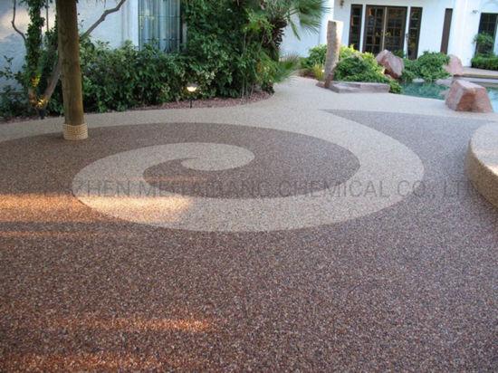 epoxy pebblestones concrete overlay pool deck