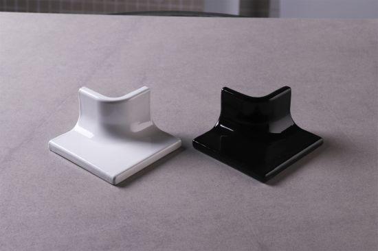 china white black ceramic tile trim