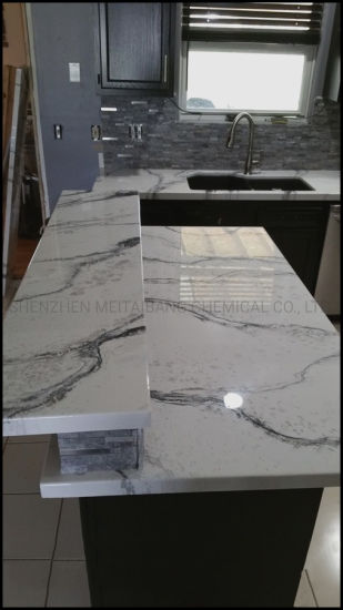 clear 100 solids epoxy resin system for metallic countertops
