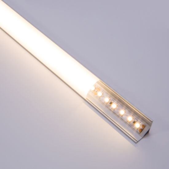 made in china 120 degrees 2m led linear light strip channel aluminum extruded for corner surface mounted