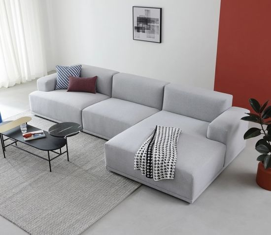 modern furniture l shaped corner sofas set fabric modern sofa from foshan china