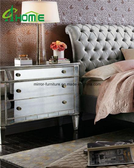 china modern mirrored furniture bedroom
