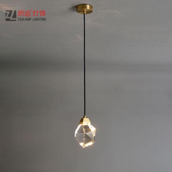 design clear glass copper pendant lamp