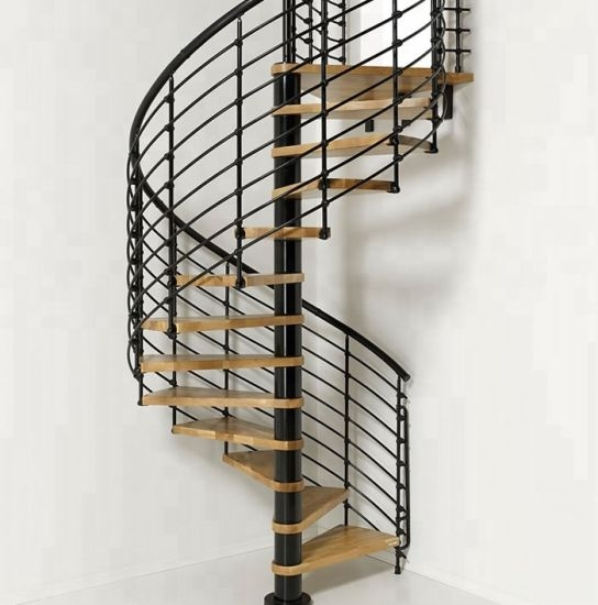 China Hot Sell Used Spiral Staircase Handrail Design Wooden Step   Second Hand Spiral Staircase For Sale   Design   Simple   Vertical   Stairway   Easy