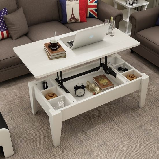 space saving lift up top coffee table hinges mechanism soft closing