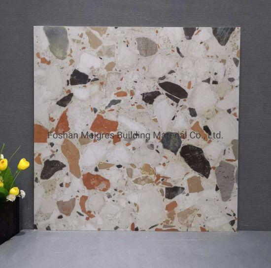 hot item terrazzo concrete design anti skid marble glazed porcelain floor ceramic tile 600 600 600 1200mm