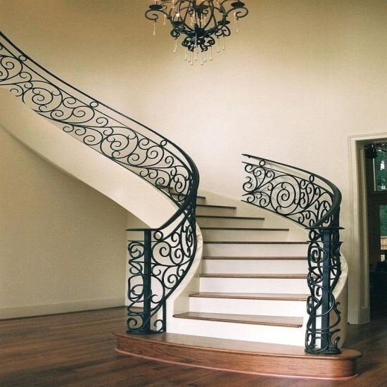 New Design Galvanized Wrought Iron Black Steel Fence Panel Stair | Black Metal Railing For Stairs | Traditional | Low Cost | Cast Iron | Horizontal | Black Wire