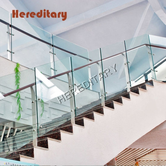 Floor Staircase Stainless Steel Glass Railing Posting Railing   Glass And Stainless Steel Stair Railing   Custom Glass   Architectural Glass   Balcony   Modern   Metal Glass