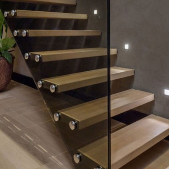 China 2020 Thailand Oak Wood Tread Modern Staircase Floating   Wood Stairs For Sale   Cheap   Trailer   Open Tread   Landing   Wooden