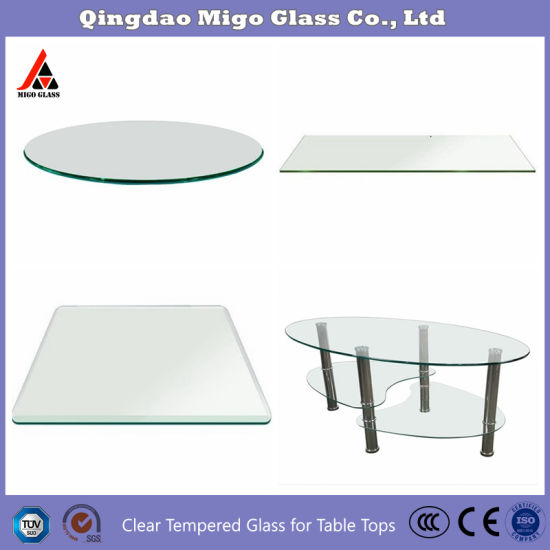 china glass manufacture direct tempered glass patio table top with rounded edge 5 16 inch thick 36 inch round tempered glass